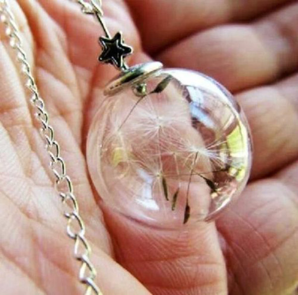 jewels wish chain globle necklace dandelion