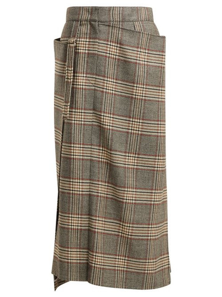 skirt wool grey tartan
