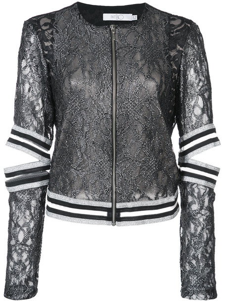 Patbo jacket women spandex lace black