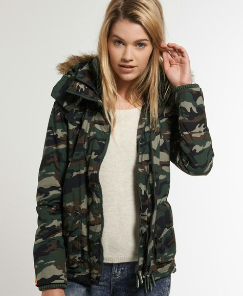 jacket girl militar military superdry cold blonde hair