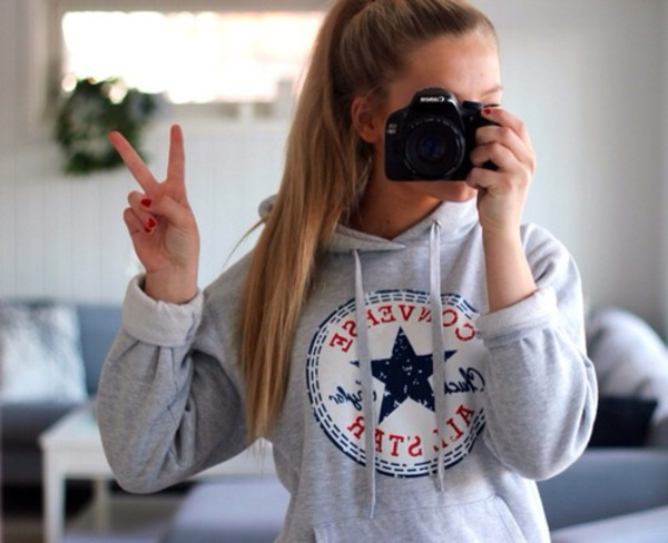 womens ladies sweater long sleeves converse all star print. Black Bedroom Furniture Sets. Home Design Ideas