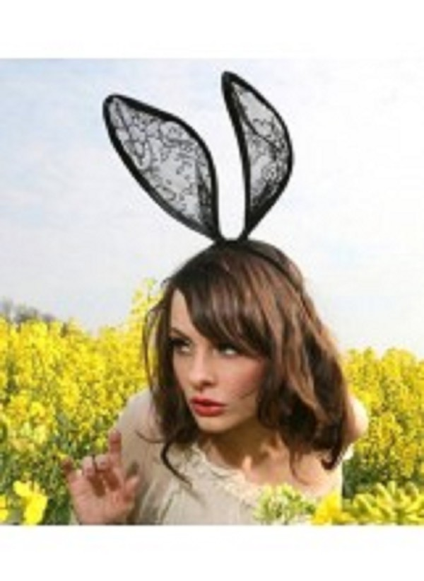 hair accessory bunny oversized dressup costume fancy dress bunny ears lace