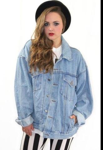 jacket denim jacket denim light blue baggy denim shirt
