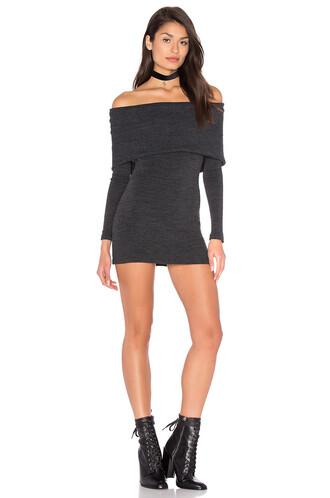 dress sweater dress charcoal