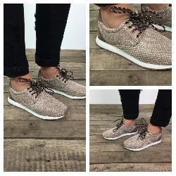 Sneaker maggie taupe bij guts & gusto fashion store