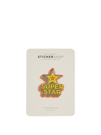 home accessory anya hindmarch patch stickers stars yellow 90s style designer superstar