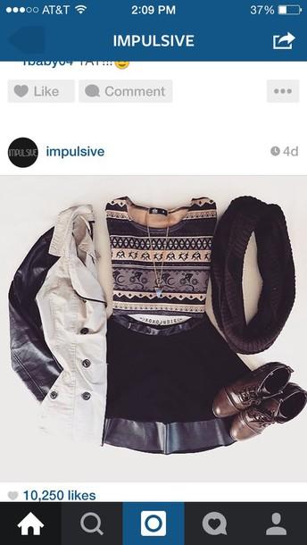 coat skirt blouse