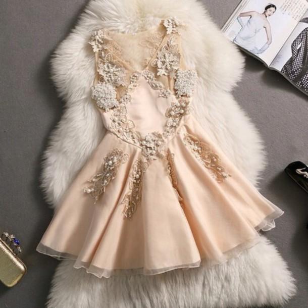 dress glitter flowers