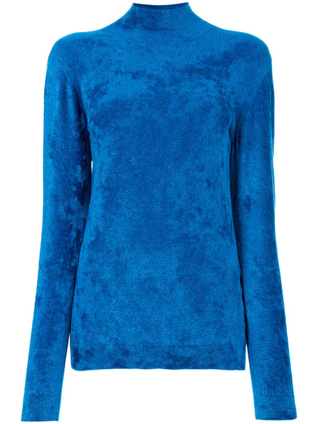 sweater women turtle blue