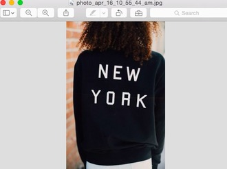 shirt black white black and white new york city