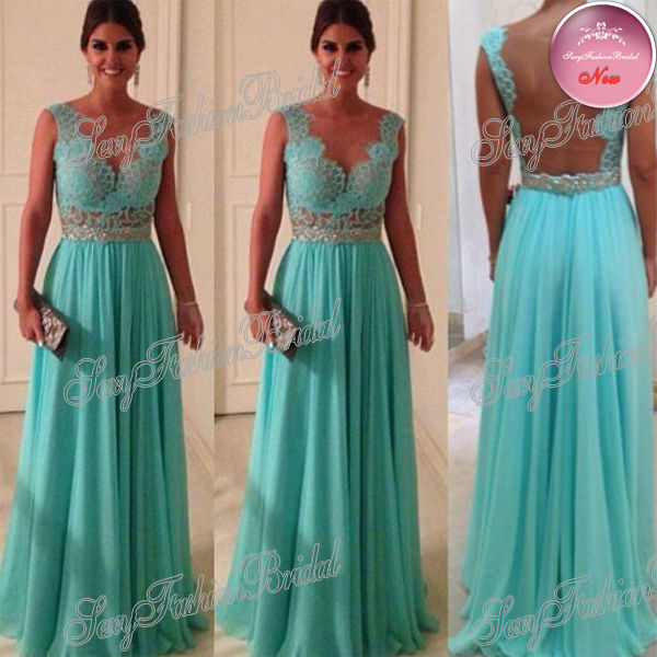 Aliexpress.com : Buy Custom Size Custom Sweetheart Beadings Nude Back Blue Lace Chiffon 2014 Sexy Long Evening Dresses from Reliable lace long sleeve wedding dress suppliers on sexyfashionbridal