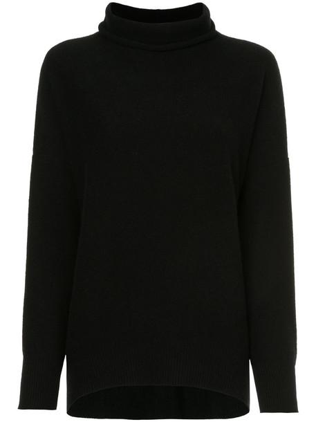 Fabiana Filippi - relaxed roll neck jumper - women - Silk/Cashmere/Merino - 42, Black, Silk/Cashmere/Merino