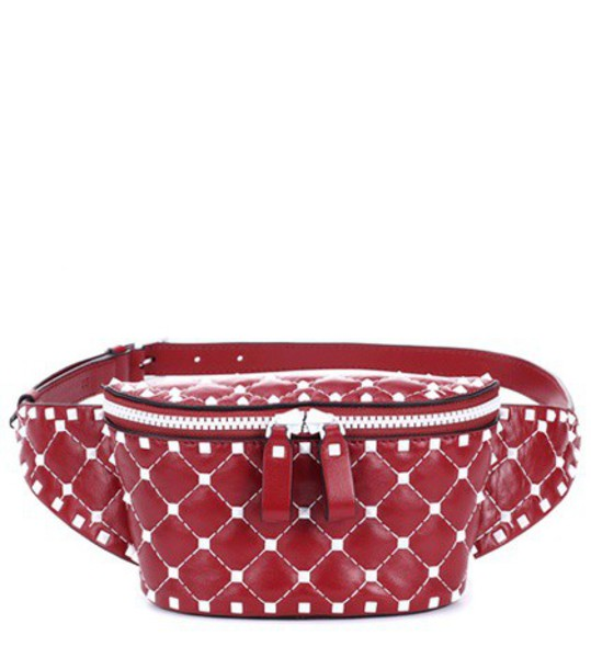 belt bag bag leather red