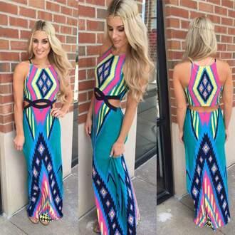 dress maxi dress aztec dress