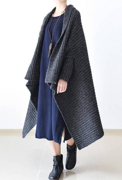 coat sweater coat large size clothes