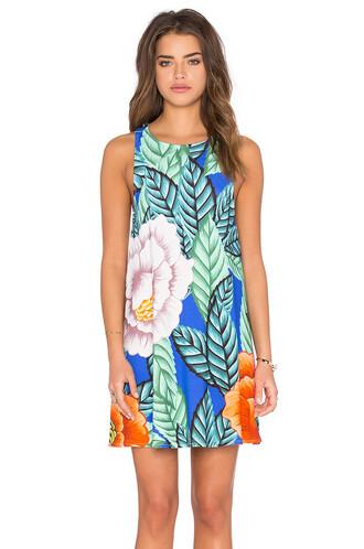dress swing dress blue