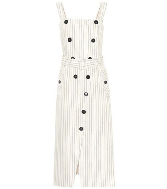 Altuzarra dress striped dress beige