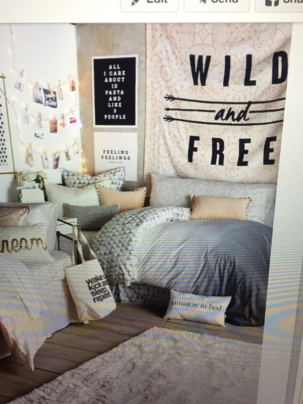 Decorating Ideas # Home Accessory Grey Bedding, Dorm Room, Bedroom, Hipster