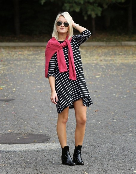 stripes blogger platinum and penniless black boots