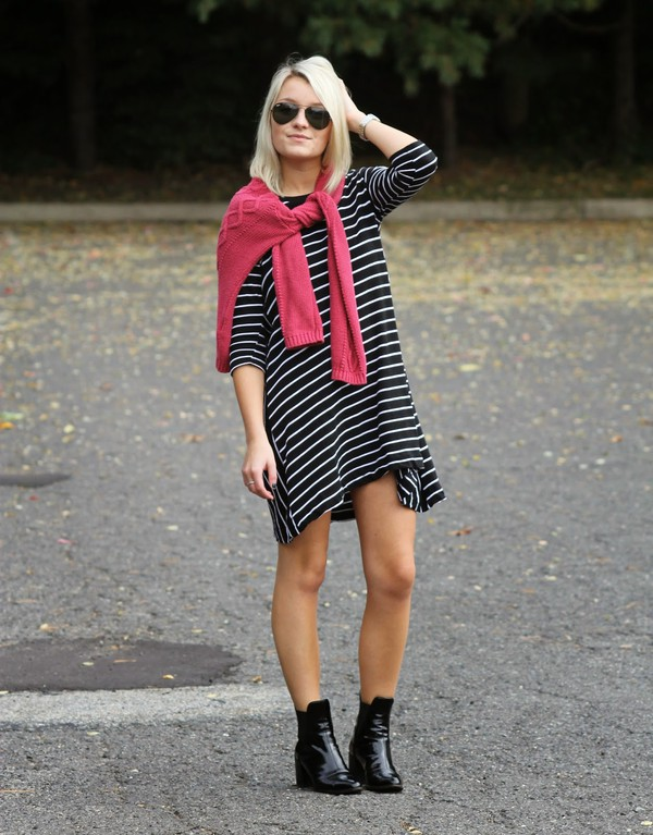 platinum and penniless blogger stripes black boots
