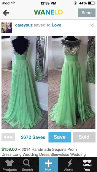 prom dress long dress long prom dresses sequin dress mint green dress