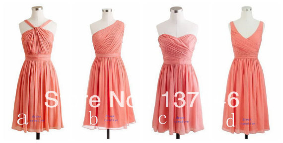 Aliexpress Com Buy 2014 Spring Short Coral Bridesmaid