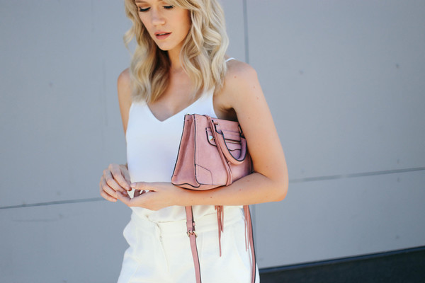 miss lyle style blogger shoes tank top bag jacket dress white top pink bag