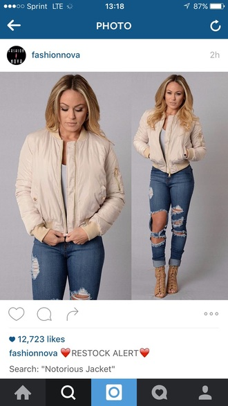 jacket bomber jacket winter jacket outfit outfit idea fall outfits winter outfits cute outfits spring outfits party outfits jeans ripped jeans high waisted jeans skinny jeans blue jeans light blue jeans pants high waisted pants high waisted high heels heels shoes sexy shoes cute high heels