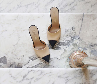 shoes chanel mules cap toe mules chanel chanel shoes pointed toe nude shoes classy
