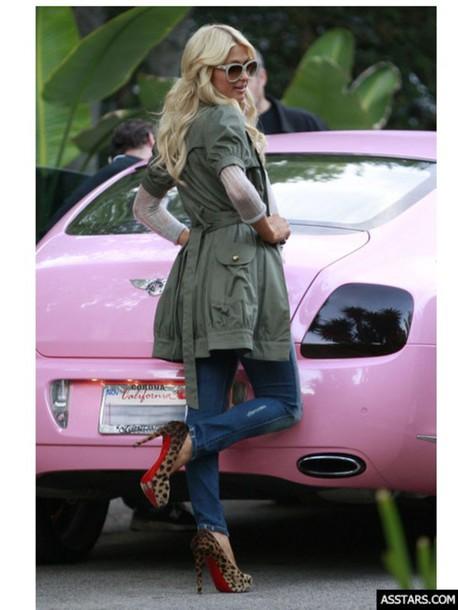 Shoes: paris hilton heels, leopard print, horse fur, leather ...