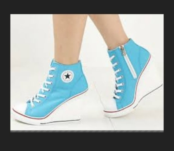 48f9186a030 shoes converse heels wedges wedge sneakers converse wedges converse heels  blue sneakers