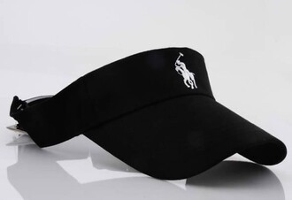 hat black polo visor visor ralph lauren polo
