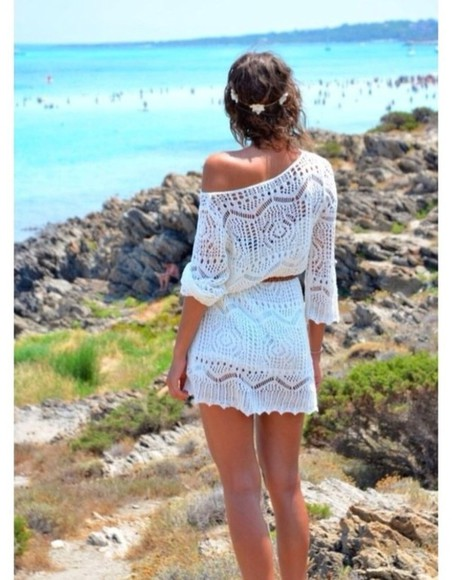 dress white white dress lace dress lace white lace dress