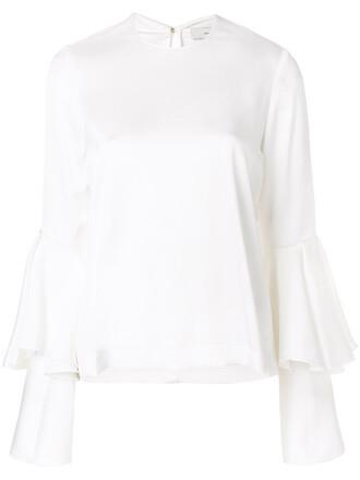 blouse women layered white top
