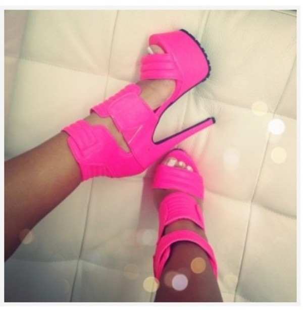 shoes pink high heels pretty in pink neon pink pink by victorias secret