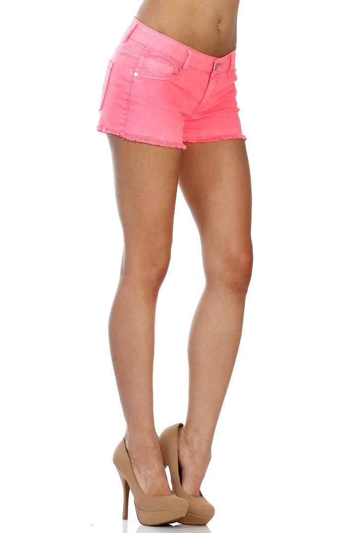 Free shipping and returns on Women's Pink Denim Shorts at funon.ml
