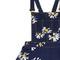 Straps floral print dark-blue dress | pariscoming
