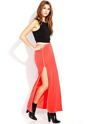 Show Out M-Slit Maxi Skirt | FOREVER21 - 2000089632