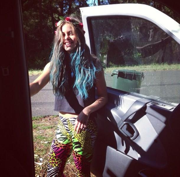 pants hippie mimi zebra print