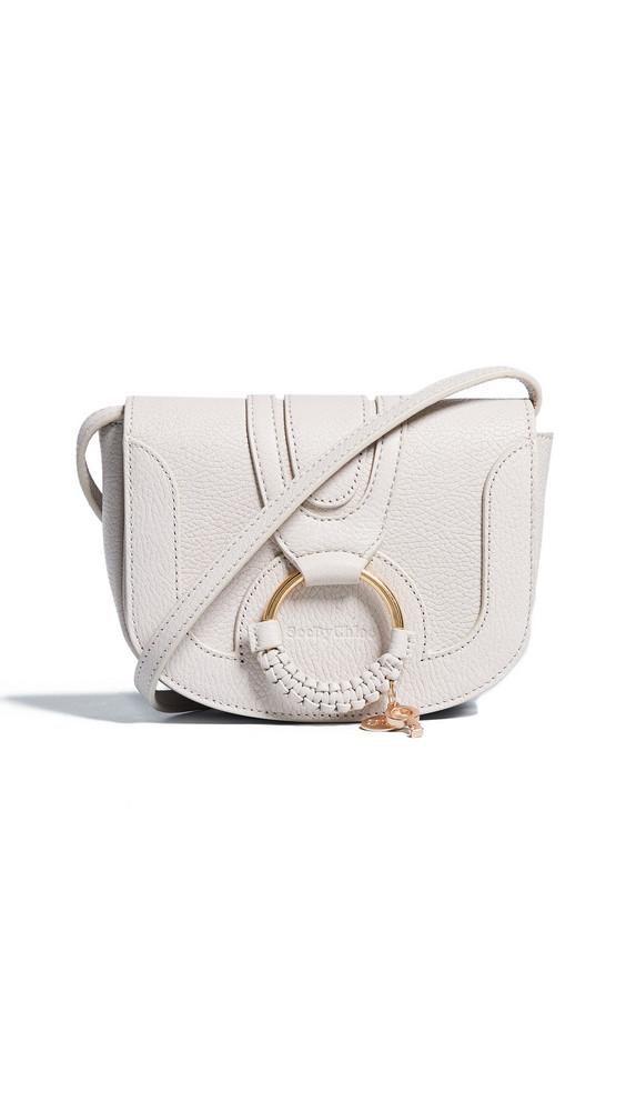 See by Chloe Hana Mini Saddle Bag in beige / beige