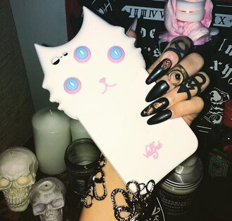 phone cover white cats animal eyes pink iphone case