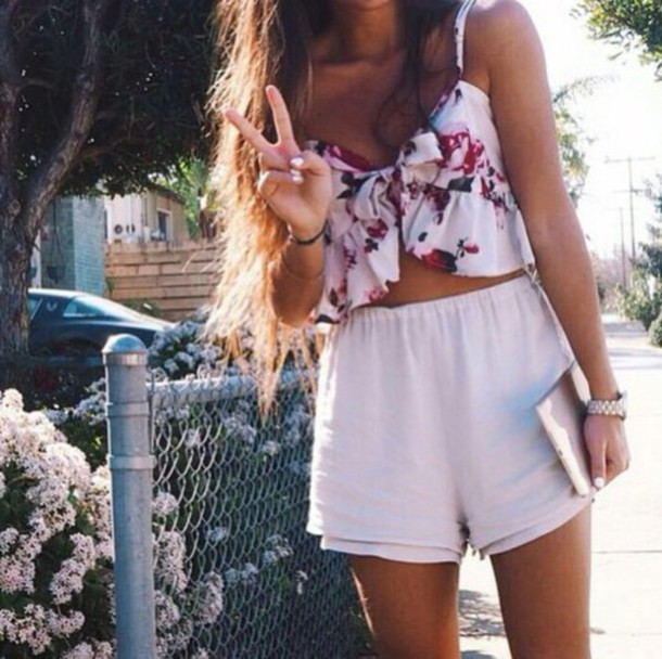 Top Summer Tropical Girl Fashion Outfit Tumblr Outfit Style Wheretoget