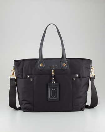 MARC by Marc Jacobs Preppy Nylon Eliz-A-Baby Diaper Bag, Black - Neiman Marcus