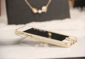 Amazon.com: Change Luxury Crystal Rhinestone Diamond Bling Metal Case Cover Bumper for Iphone 5 5s (Gold): Cell Phones & Accessories