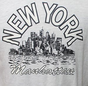 Vintage 1992 New York Manhattan T Shirt 42 Chest | eBay
