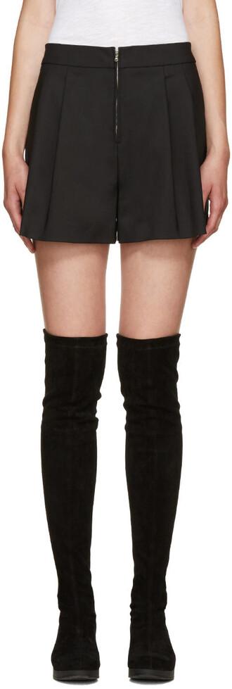 shorts zip black
