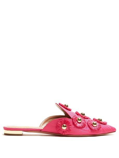 Aquazzura embellished sunflower shoes pink
