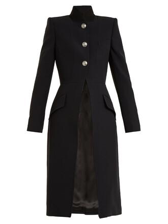 coat wool coat wool black