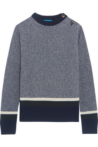 sweater blue wool