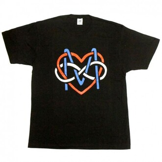 t-shirt white black graphic tee red blue swag cool